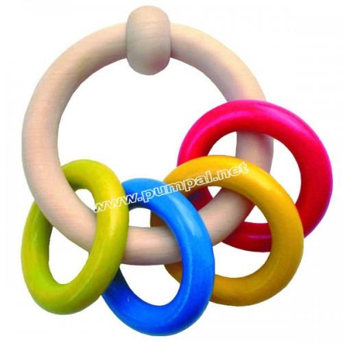 Дрънкалка цветни рингове