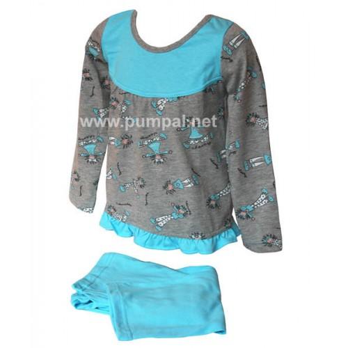 Пижама - туника с момиченца