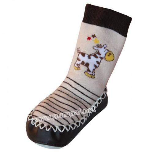 Мокасини с чорап