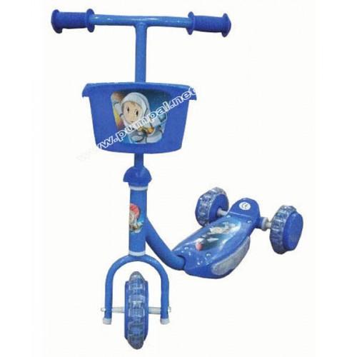 Детски скутер с 3 гуми blue