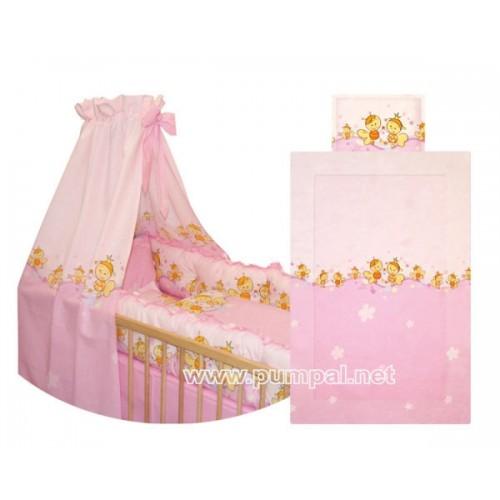 Спален комплект Пчели в розово