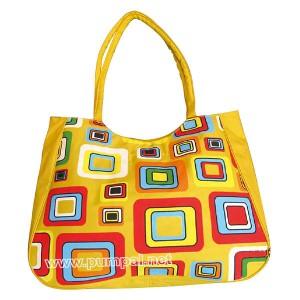 Плажна чанта Кватрати в жълто