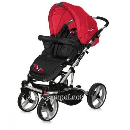 Комбинирана количка Bertoni ASTRA - Red Poppies