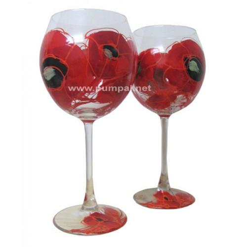 Чаша за вино Макове