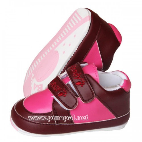 Бебешки обувки в бордо