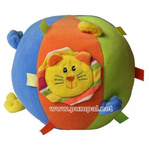 Плюшена топка Лъвче - дрънкалка