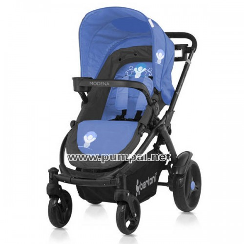 Комбинирана количка MODENA Grey and Blue Babies