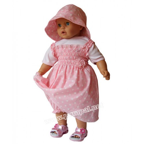 Комплект Точки - рокля с шапка