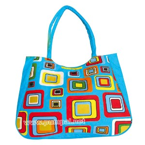 Плажна чанта цветни Кватрати