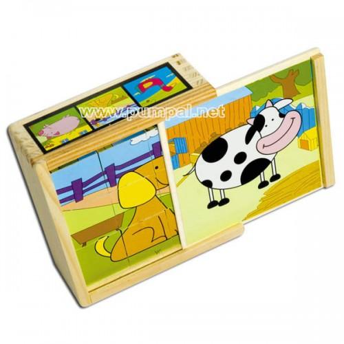 Дървени кубчета Ферма