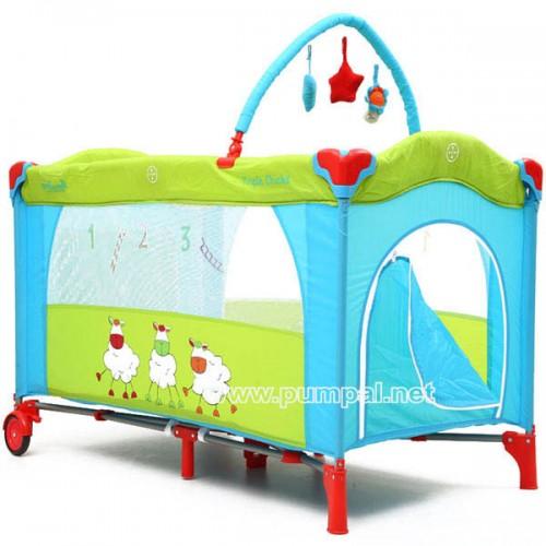 Детска сгъваема кошара Happy baby blue