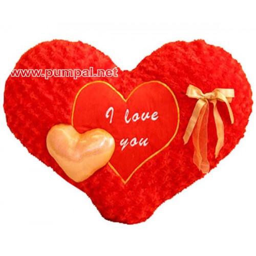 Червено сърце с панделка