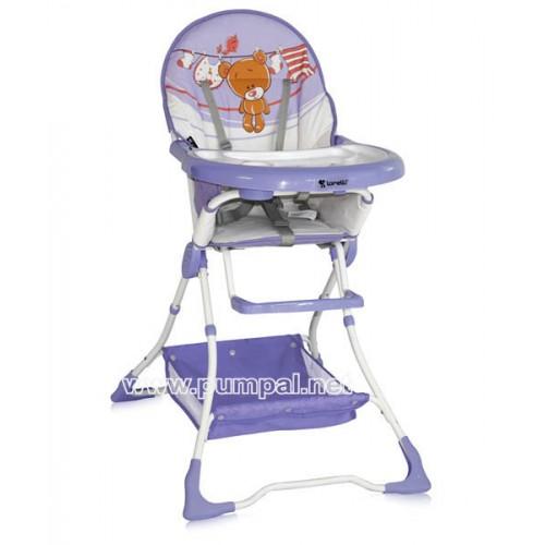 Стол за хранене Bertoni Bravo Violet Teddy bear