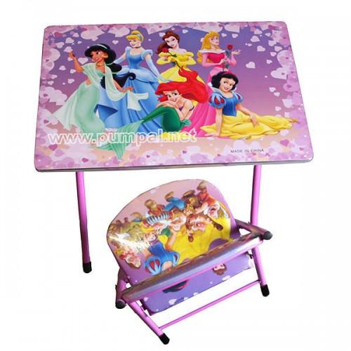Детска маса със стол Принцеси