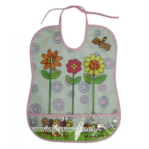 Лигавник за бебе с джоб Цветя