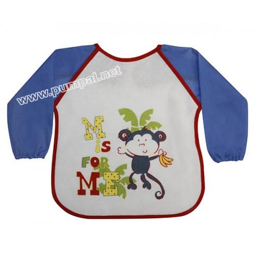 Лигавник за бебе с ръкави Маймунка