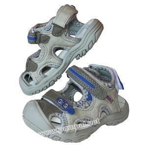Детски сандали в сиво