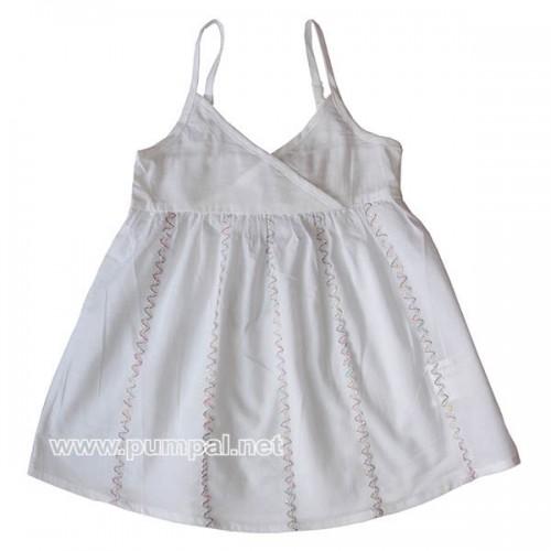 Бяла рокля - туника с презрамки