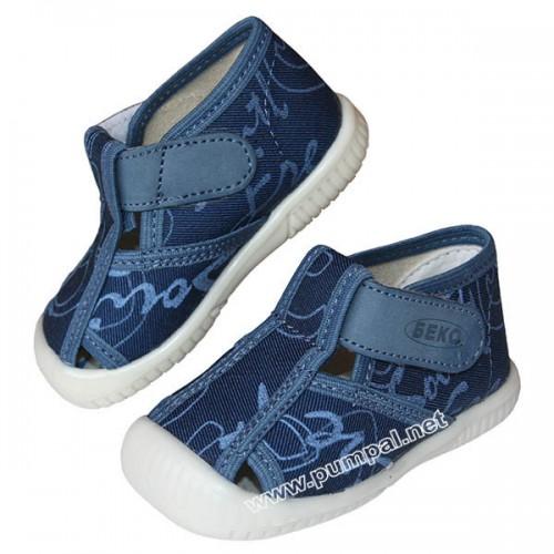 Летни пантофи Беко в син цвят