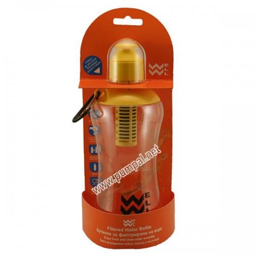 Бутилка за филтриране на вода Wellbottle