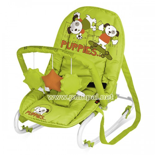 Шезлонг Lorelli Top Relax Green Puppies