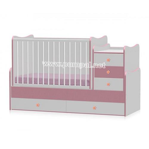 Бебешко легло - люлка Maxi Plus White/Pink