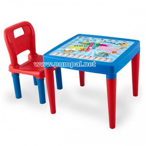 Детска масичка със столче