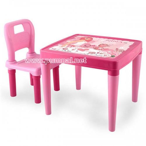 Детска маса със столче