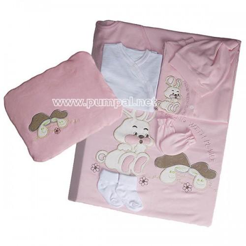 Комплект за новородено Зайче Pink