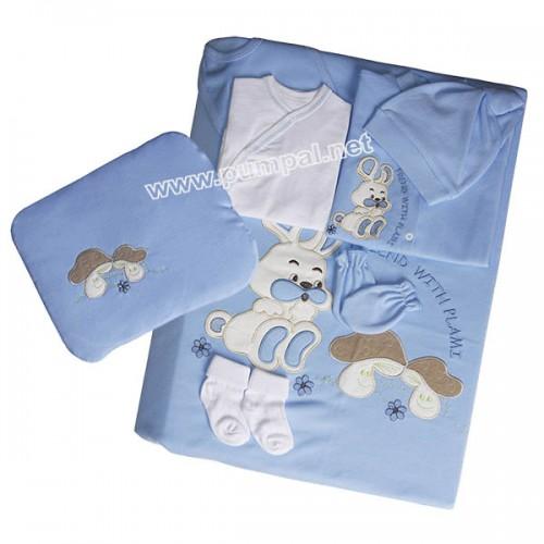 Комплект за новородено Зайче Blue