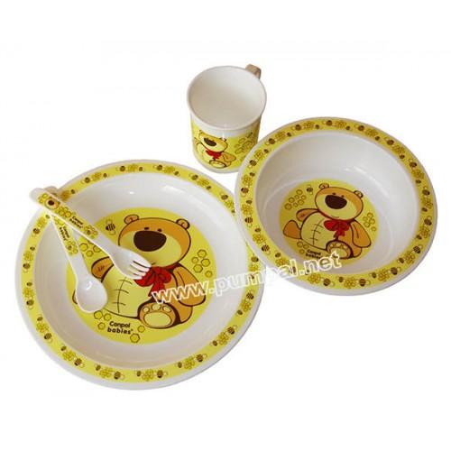 Купичка, чинийка и чашка Мече