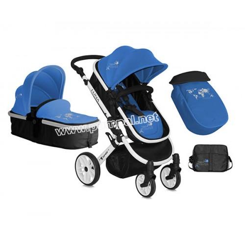 Комбинирана количка Lorelli Luna Blue