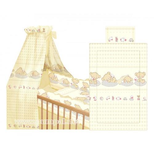 Комплект за детско легло Мечета в бежово