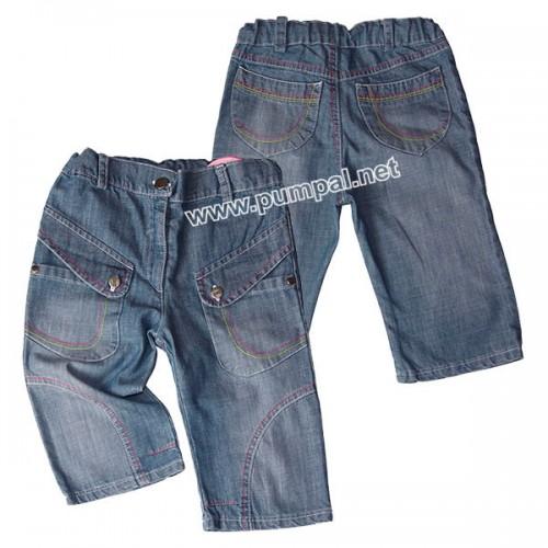 Дънкови панталонки с джобчета
