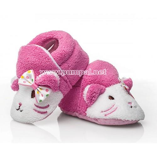 Бебешки пантофки розови котенца