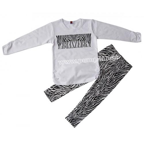 Комплект блузка с клин Зебра