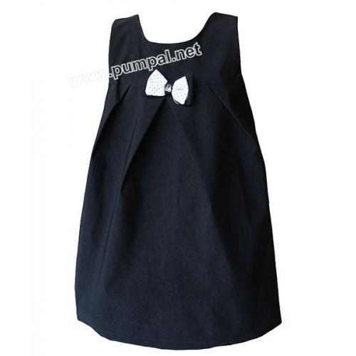Малка черна рокля с панделка