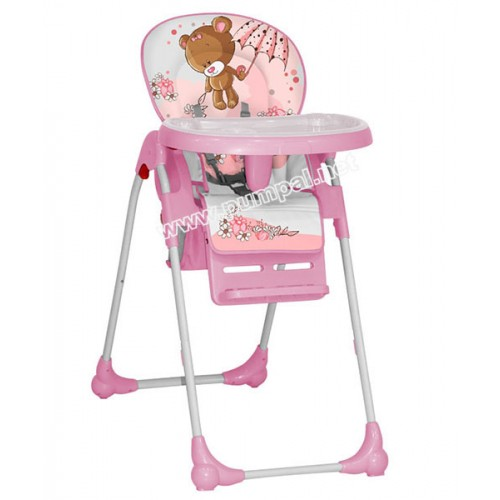 Стол за хранене Lorelli Oliver Мече Pink