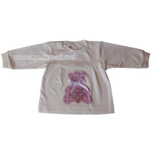 Блуза Мече с панделка в екрю
